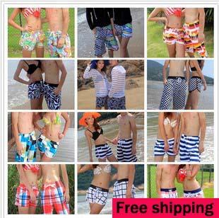 Пара быстрая сушка пляж шорты на открытом воздухе спорт пляж плавание женщины   брюки много моделей мужчины без тары брюки доска шорты
