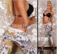 New Free Shipping ladies Print Flower leggings sexy jeans Women's Fashion Leggings high quality