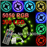 5m 5050 RGB Flexible LED Strip Lighting (60LED/Metre) 12 volt waterproof  IP65 rating  cut every 3 LED's+ IR Remote Kit