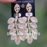 10pairs Geometrical pattren Crystal rhinestone drop dangle earrings Luxury statement topshop chandelier