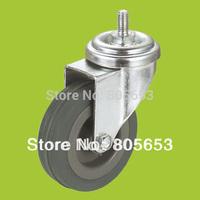 Thread stem swivel grey rubber  industrial caster wheels (IC2211)