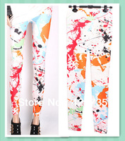 2014 New arrival sexy jeans Women's Fashion Graffiti Leggings high quality Jeggings Cheap price