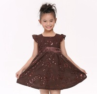 FREE SHIPPING H3776# Nova 3/8y kids wear clothing 2013 new short sleeve dress for baby girls