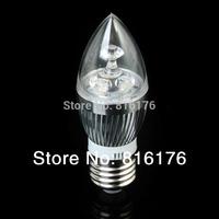 E27 Warm-White 3W Crystal LED Spot Light Candle Light Lamp Bulb