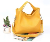 2013 New Designer Fashion Women Leather Handbags Top Quality Cowhide Leather , Candy Color Women Tote Shoulder Bag Free Shipping