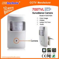 960H Sony Effio-E 4140+811 CCD IR passive infrared sensor security CCTV hidden mini surveillance audio camera+FREE SHIPPING