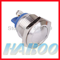 5pcs/lot IP67 16mm screw type metal stainless steel pushbutton switch
