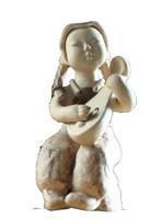 The pipa girl (ceramic art by handmade)16*20*30