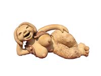 Sleeping woman  (ceramic of handmade) 16*13*30