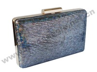 High quality designer black flash PU womens chain evening leather clutches party free shipping