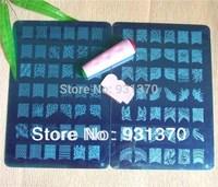 2PCS konad stamp Image plate stamping Nail Art  DIY Image Plate Template+1PCS 2way stamper+1scrap