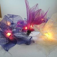 20  Bodhi Leave Flower Fairy Lights String 3.5M  purple tone color
