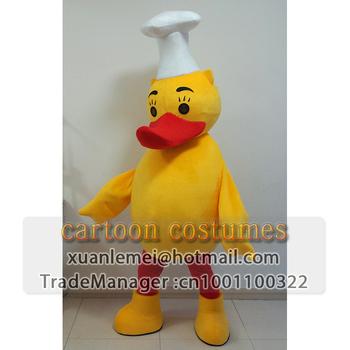 Cartoon duck costume dolls model Rubber Duck cartoon clothes Quanjude Roast Duck  roast duck chef made cartoon costumes Mascots