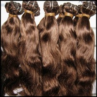 Cheap brown hair 100% indian human hair (dyed),6pcs/lot,color #1b,#2,#4, natural weaves- body wave
