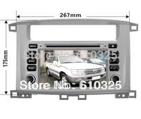 Free Shipping 7 Inch Car Radio Audio DVD Player GPS For TOYOTA LAND CRUISER 100 LEXUS LX470  98~07 Retail/PC