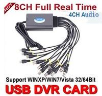 FreeShipping CCTV 8ch DVR card Real Time USB CCTV Video Capture Card USB DVR Box For Windows XP/Vista/7 32bit/64bit PC/Laptop