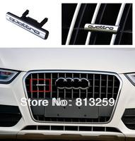 For Audi Q3 ABS chrome Front Quttro Emblem Logo