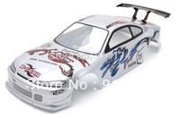1/10 RC Car PVC Painted Body Shell 190mm  Silver NO:008  free shipping
