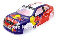 1/10  RC car body shell  Citroen C4 Rally Rohbaukarosse 190 mm No:009 free shipping