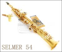 French Selmer Salma High-pitch Soprano Saxophone One Piece Straight B Flat Saxe Top Musical Instrument sax boquilha Saxofone