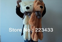 120cm Three color for chose, teddy bear skin/cloth/coat(Empty inside),birthday gift,toys for girls,Christmas gifts,Free Shipping