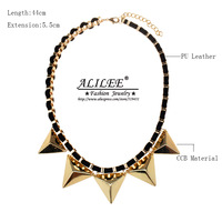 High Quality NEW Arrival ALILEE Necklace Chain Women Fashion 18k Gold Plated Zinc Alloy Set LN-0007 Free Shipping