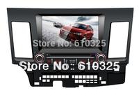 Free Shipping 8 Inch Car Radio Audio DVD Player GPS For MITSUBISHI LANCER FORTIS iO EX SERIE R GALANT FORTIS 2007~2012 Retail/PC