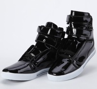 Hot selling 2013 new men's flat shoes  Spring and autumn men's shoes. Black PU fashion shoes