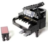 Piano Enlighten Building Block Set 3D Construction Brick Toys Educational Block toy for Children No 411 Piano Free shipping