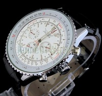 New Men's Leather Watch, Brand Mechanical Watches, Fashion Casual Men's Watch, Free Shipping