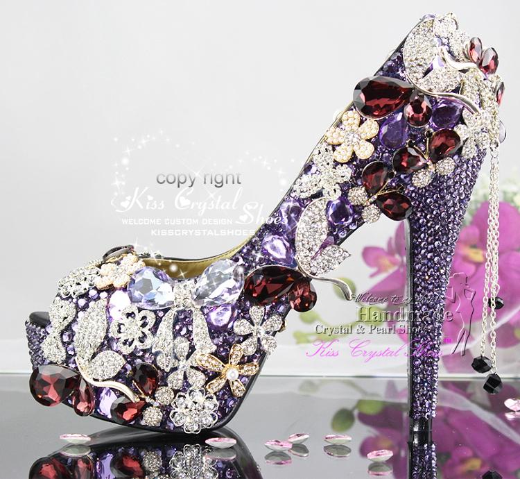 Purple Wedding Shoes Women's