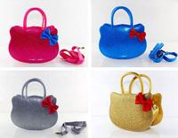 New 2014 Candy Color Women Leather Handbag KT Shoulder bag Messenger bag Free shipping Children girls bow handbag 1274854817 cux
