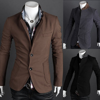 New Hot Mens Stylish Slim Fit Blazer Jacket Outwear,Male Cloths,Suit Top,3 Colors,Casual Wear,Wholesale,Free Drop Shipping,XG034