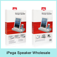 X10 iPEGA Multi-Functional Charger Dock Station Stand Stereo Speaker For iPhone 5S/6/6plus/iPad4/Mini/Samsung Galaxy S4/S5 Note2