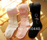 retail free shipping Cute Ballerina girl Cotton children leggings girl stocking baby girls pantyhose 2 designs