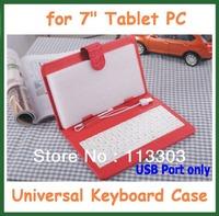 "New Universal 7 inch USB Keyboard Case Cover Stand Cute Magic Girl Case for Tablet PC 7"" Ainol Novo 7 Fire Onda Ampe Cube U25GT"