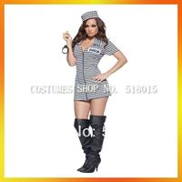 Free Shipping sexy halloween prisoner costumes AEWC-0994