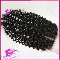 """6A Grade Brazilian curly virgin hair silk base closure,one pieces lace front closure,natural color 4"""" x 4"""" lace silk top closure"""