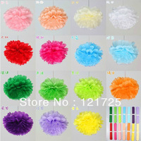 "Promotion 10pcs 8""(20cm) Tissue Paper Pom artificial flowers ball for Wedding Birthday Party Decor Craft festival decoration"