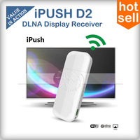 iPush D2 Wifi Display Dongle Receiver DLNA Airplay for Samsung S4 iPhone Smartphone Tablet PC Multi-screen Interactive MeLe i6