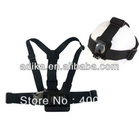 Free shipping Gopro chest band with Gopro head band, for GoPro Hero3+/3/2/1, Gopro Accessories GP59