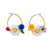 2013 fashion Free shipping les nereides**  Luxury Jewelry  Flower Statement Earrings OEM  wholesale