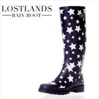2014 New Arrieved High Quality Women's Fashion Rain Boots High Leg Women's Rainboots Star Print Water Shoes Rubber Boots