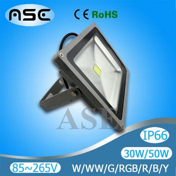 Waterproof 10w/20w/30W/50W/70W/100W LED Flood Light Floodlight Warm/Cool White/RGB/R/G/B/Y Outdoor Lamp 3PCS/LOT