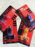 Free shipping colorful  Fox 4  whistle emergency whistle with lanyard and CMG mouthpiece in blister packing