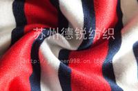 Custom 100% Mercerized Cotton Stripe Knitting Fabric/High Quality Mercerzing Jersey L100CM*W140CM For Polo T-shirt, Home Textile