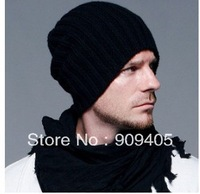 200pcs/lot 2013 new Korean wool caps Winter fashion hats solid color knitted hats for men and women, multi-color, free shipping