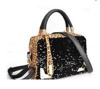 2013 spring casual fashionable women's handbag leopard print paillette bag one shoulder handbag200-16