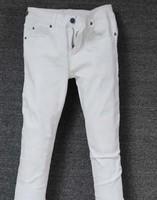 Men's Fashion Pants New Bao B Pencil Pants Feet Pants Pure White Jeans Trend Men Brand 2014 Free Shipping