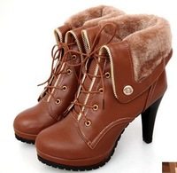 Free shipping ankle boots t high-heeled boots casual ankle-length plus size women's shoes.
